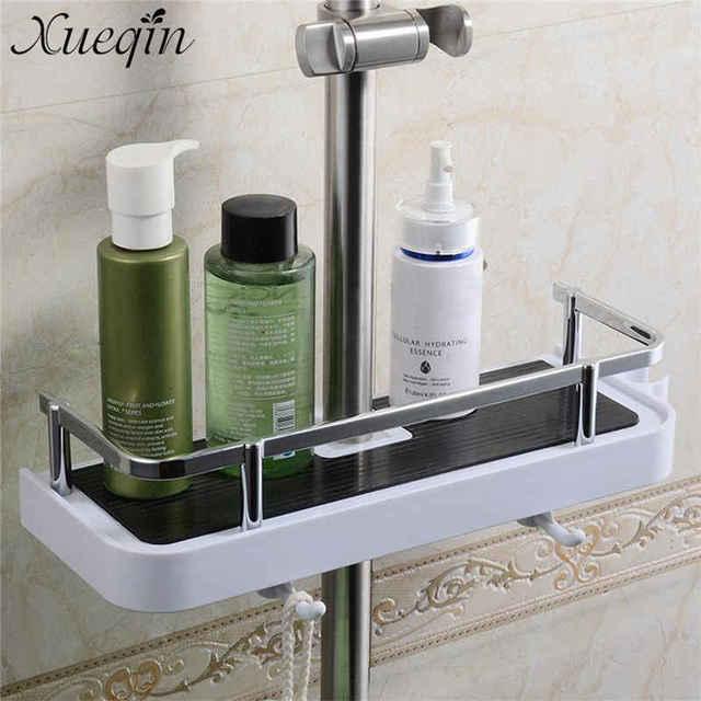 Xueqin Rectangle/Round Bathroom Shelves Shower Storage Rack Holder ...