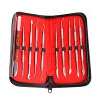 10 Pcs Set Dental Spatula Plaster Knife Waxing Carving Lab Tools Dental Supplies