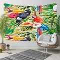 Altro Tropicale Verde Giungla Foglie Rosso Blu Pappagalli 3D Stampa Decorativa Hippi Della Boemia di Attaccatura di Parete di Paesaggio Arazzo Da Parete di Arte
