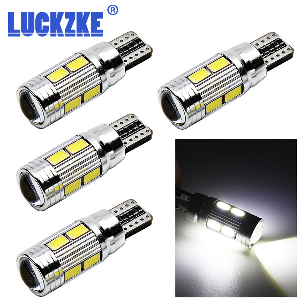 4PCS Led Pure White 194 W5W 168 5730 10 SMD Canbus Car LED Super Bright For Auto Turn Side Signal  Light Lamp Bulb 12v