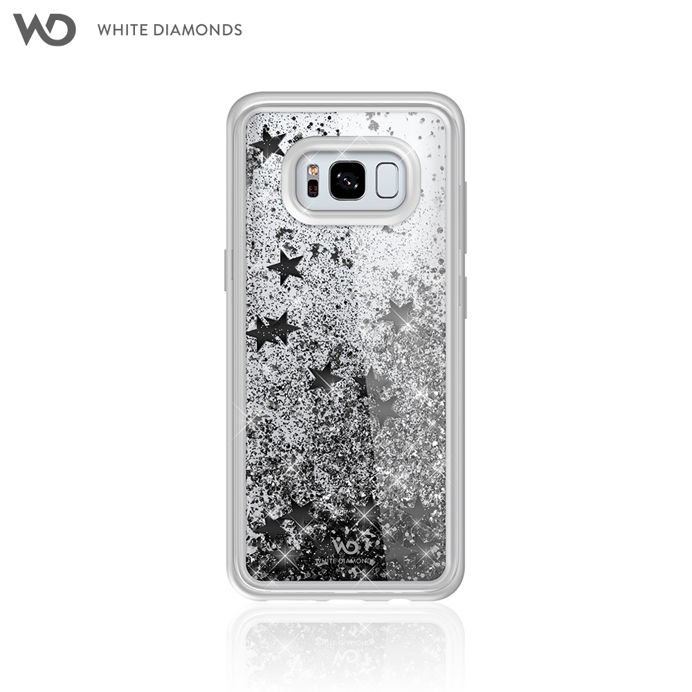 Case White Diamonds Sparkle Black Stars for Samsung Galaxy S8 color black star for samsung i779 lcd screen display with touch digitizer assembly by free shipping black color