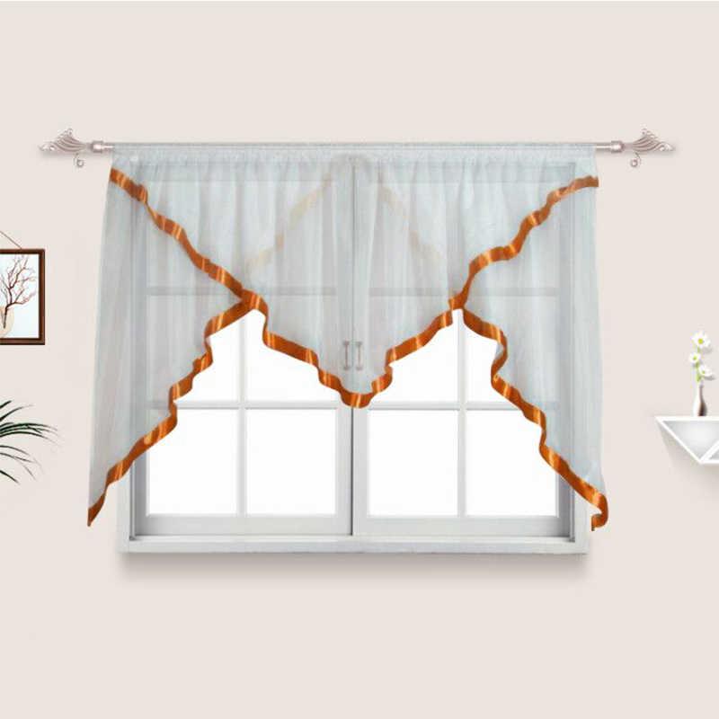 Летающие белые прозрачные Занавески для тюльпанов для домашнего окна перспективный тюль для жалюзи французские шторы занавески Прямая доставка