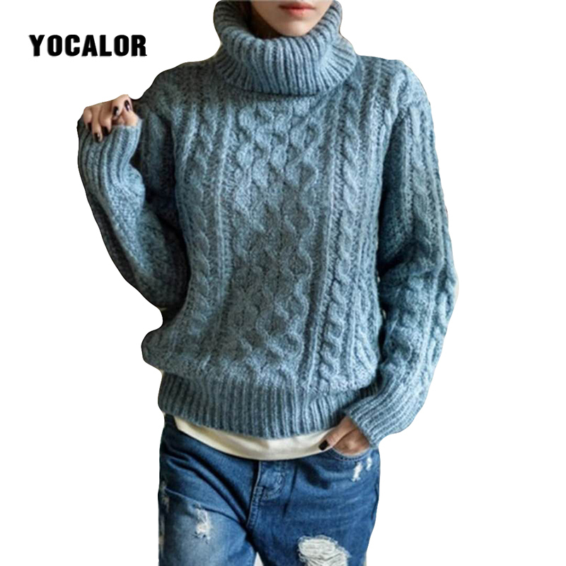 2018 Turtleneck Knitted Pullover Ugly Christmas Sweater Winter Warm Best Women Knitting Soft Jumper Femme Pull Jersey Oversized