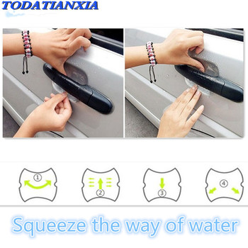 car door Handle Protection Film Sticker FOR OPTIMA hyundai tucson 2016 2017 ix35 i30 solaris accent santa fe creta Sonata image