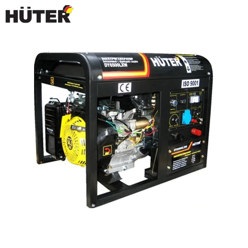 Electric generator Huter DY6500LXW Power home appliances Backup source during power outages Benzine power stations generator huter ht950a