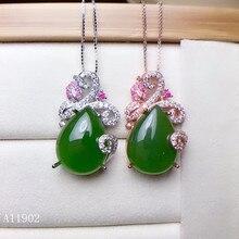 цена KJJEAXCMY boutique jewels 925 sterling silver inlaid natural gem jasper female necklace pendant support test онлайн в 2017 году