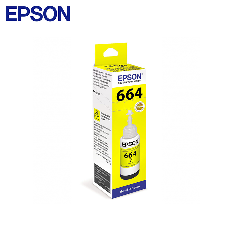 Cartridge Epson T6644 C13T66444A Yellow (for L3050/L3070/L120/L132/L1300/L1455/L222/L312/L366/L382/L386/L486/L566/L605/L655) epson l222 c11ce56403