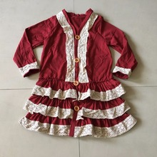 Only Have Age: 2/3/8/9/10/11T One Pcs Every Style Spring&Autumn Baby Girls Outfits Children Ruffle Dress Casual Clothing