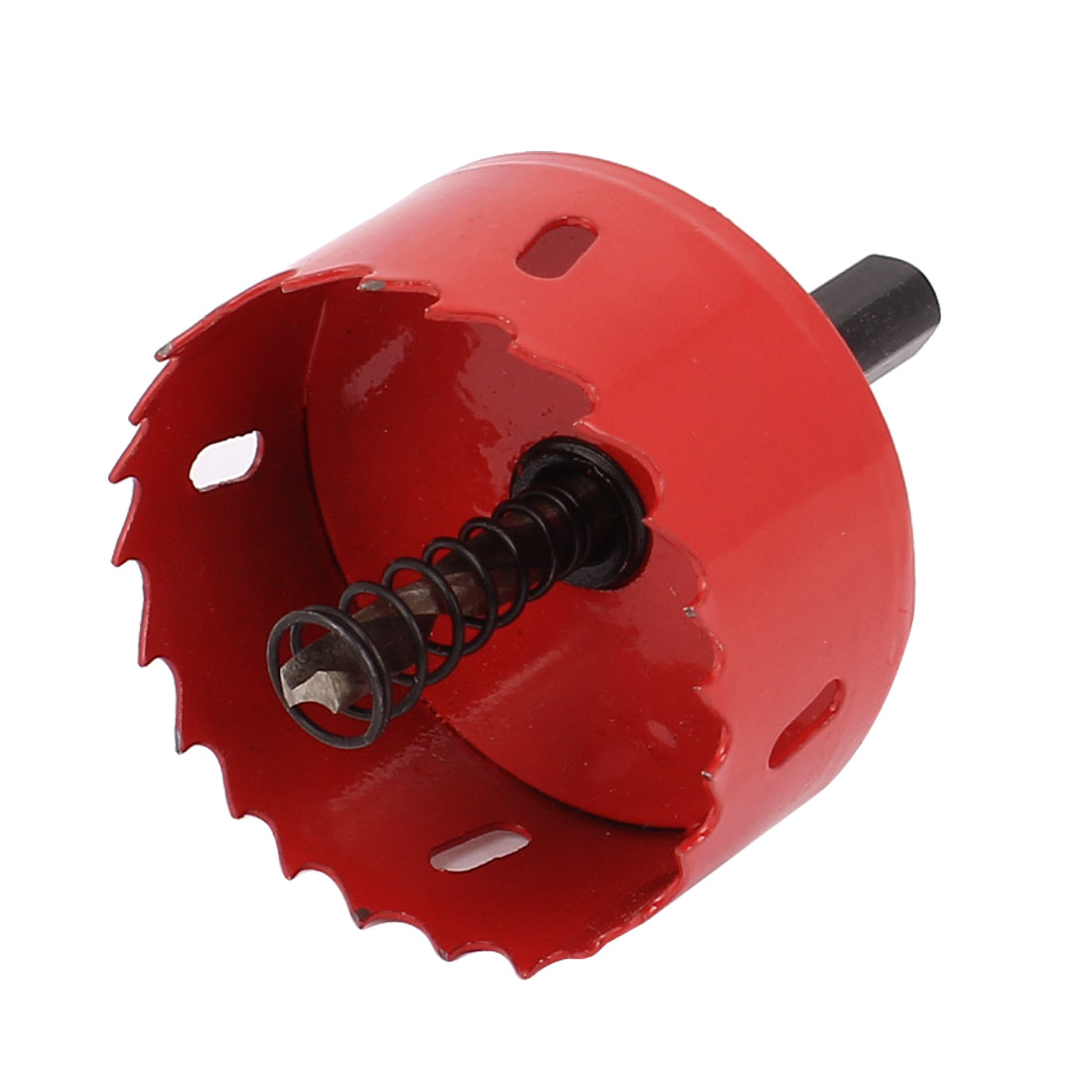 Подробнее о UXCELL 60Mm Cutting Dia Toothed Bi Metal Hole Saw Cutter Drill Bit Red For Wood Iron uxcell m42 hss triangle shank bi metal hole saw drill cutter 82mm long 28mm cutting dia