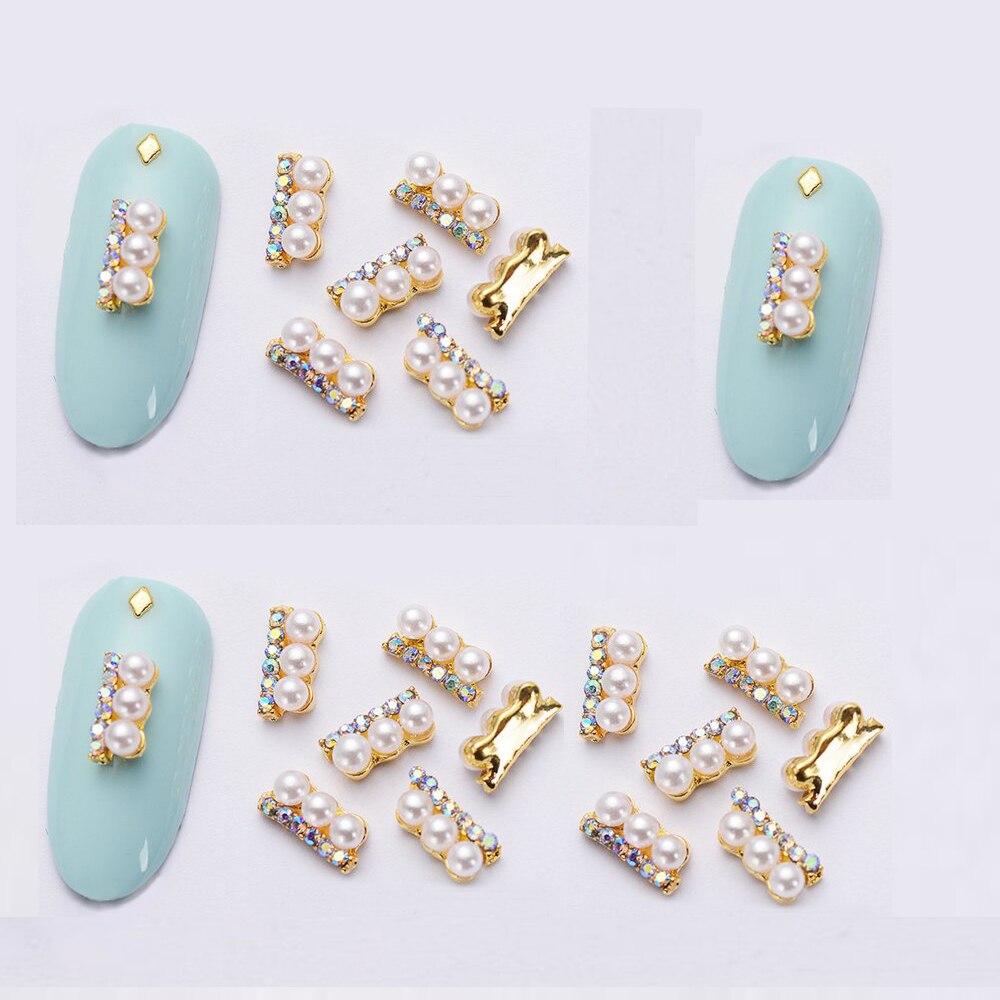 100 pcs 3D Pearl AB Crystal rectangle nail decoration/ AB Rhinestone glitter charm Nail DIY deco/ jewelry handmade supply,24type