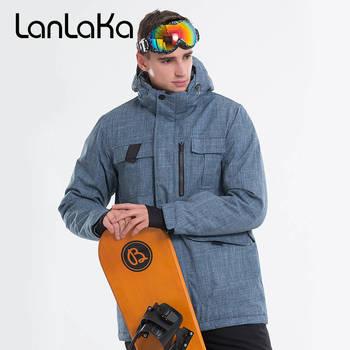 2019 LANLAKA Men Ski Jacket Snowboard Jacket Windproof Waterproof Outdoor Sport Wear Skiing Super Warm Clothing Winter Male Coat