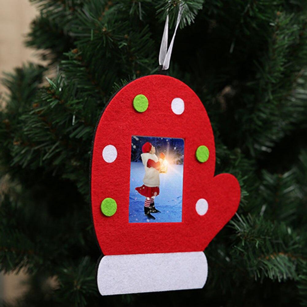 Moda feliz Navidad árbol Guantes colgante foto Marcos decoración ...
