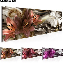 Large diy Diamond Painting Cross Stitch lily Flowers5d Full Resin square Mosaic Embroidery Rhinestones
