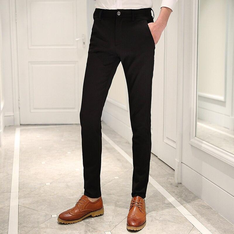 Printemps Occasionnels Occidental Pantalon Et Maigre Mince Style Herren En D'affaires Commerciales De Des Costume Tuyau Cd30 Robe Été Hommes XSxOwX