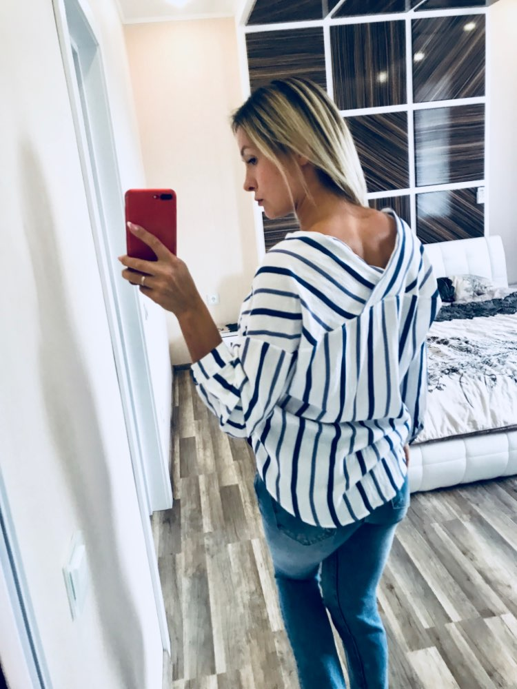 Striped Shirt Women 2018 Autumn New Arrival V-Neck Cotton Casual Blouses Ladies Loose Long Sleeve Shirts Womens Tops and Blouses