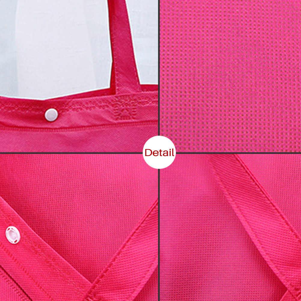 Прочные многоразовые нетканые сумки для покупок с кнопками 2019 большая вместительность складная сумка дорожная сумка для хранения продуктовые Эко сумки