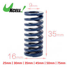 цена Uxcell Od 16Mm Id 8Mm Light Load Spiral Stamping Compression Die Spring Blue Long 100mm | 25mm | 30mm | 35mm | 45mm | 50mm | в интернет-магазинах