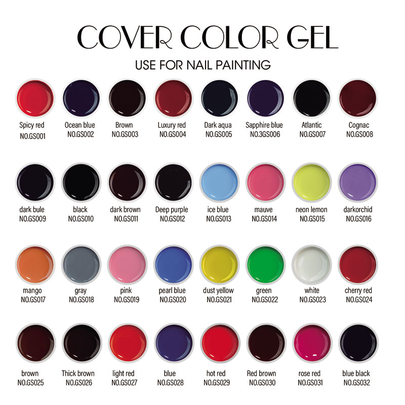 Fengshangmei 60 Farben 8g Nail Design Malerei Gel Nagel Pure Cover - Nagel Kunst - Foto 5
