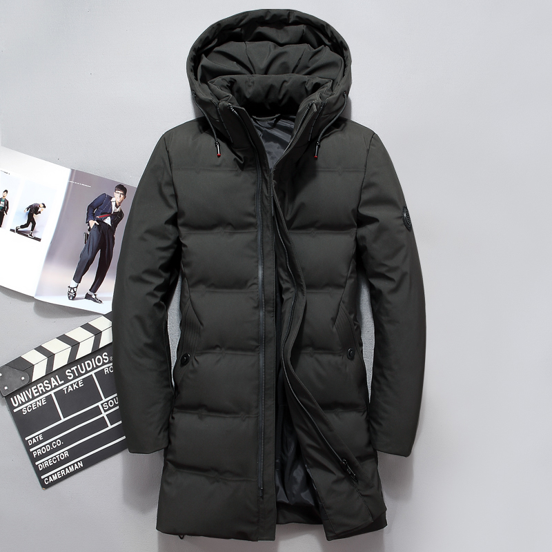2018 Fashion Men   Down   Jacket 70% Duck   Down   Winter Thick Long   Down     Coat   Fashion Hooded Long   Down   Overcoat Male Outerwear JK-8905