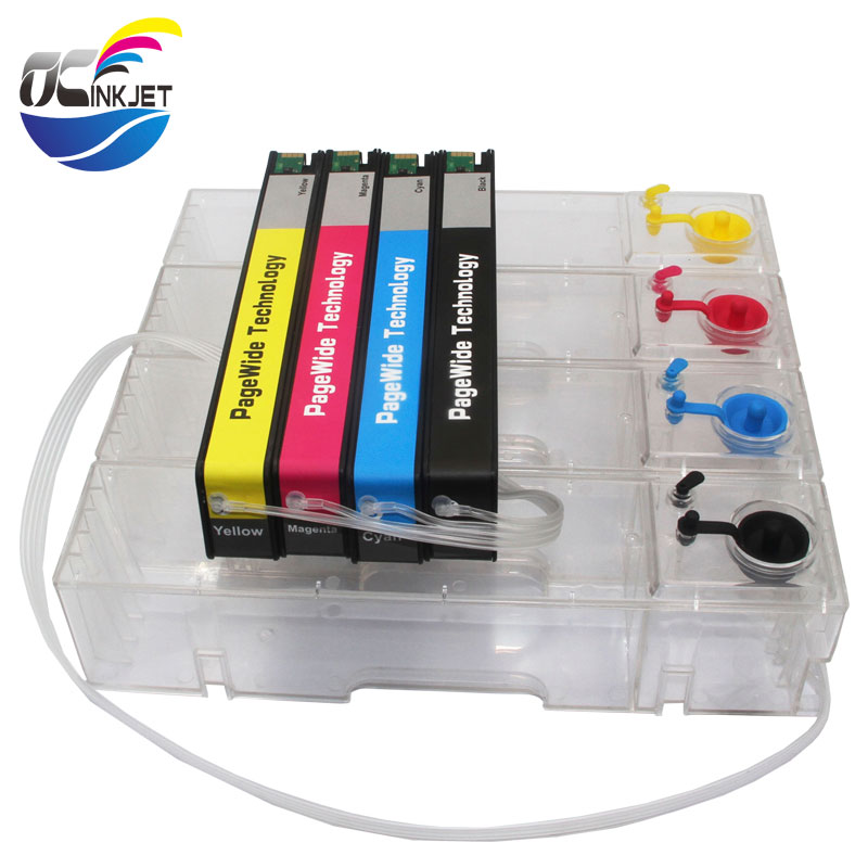 OCINKJET Refillable Continue Ink Supply Syetem For HP 972 973 974 975 CISS For HP Pagewide  377dw 477dw 577dw With ARC Chip