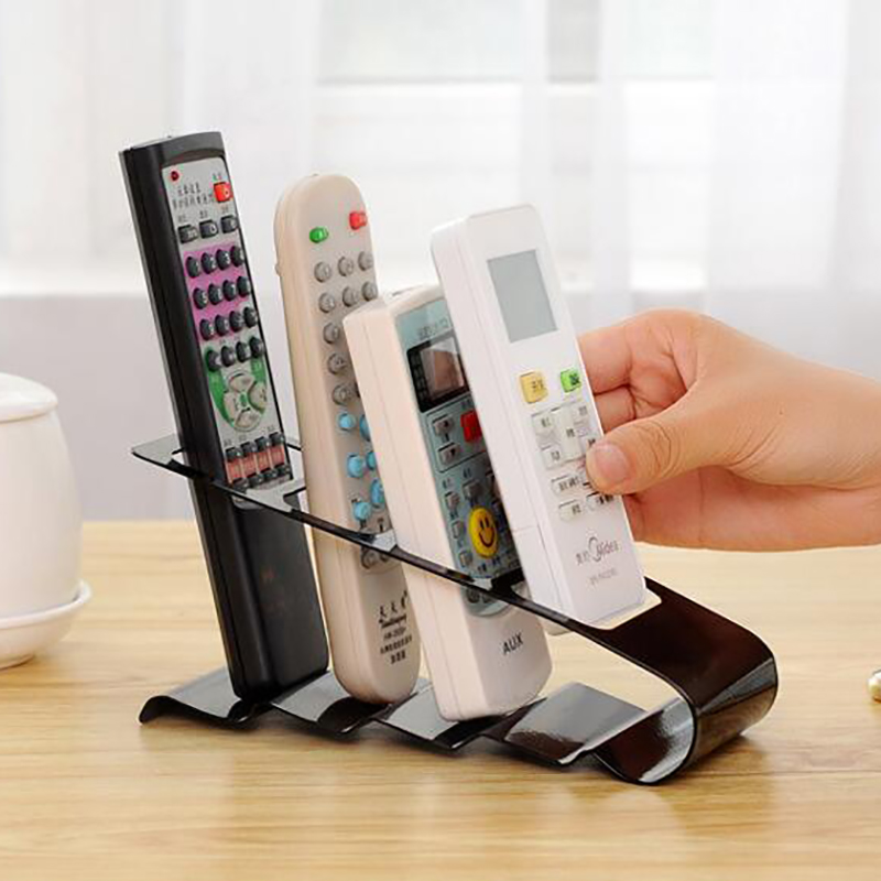 1pc Metal Mobile Phone TV DVD Stereo Remote Control Holder Stand Storage Caddy Organizer Box