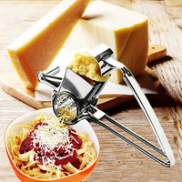 Stainless Steel Classic Rotary Cheese Grater Safe Fondue Chocolate Lemon Cooking Baking Tools