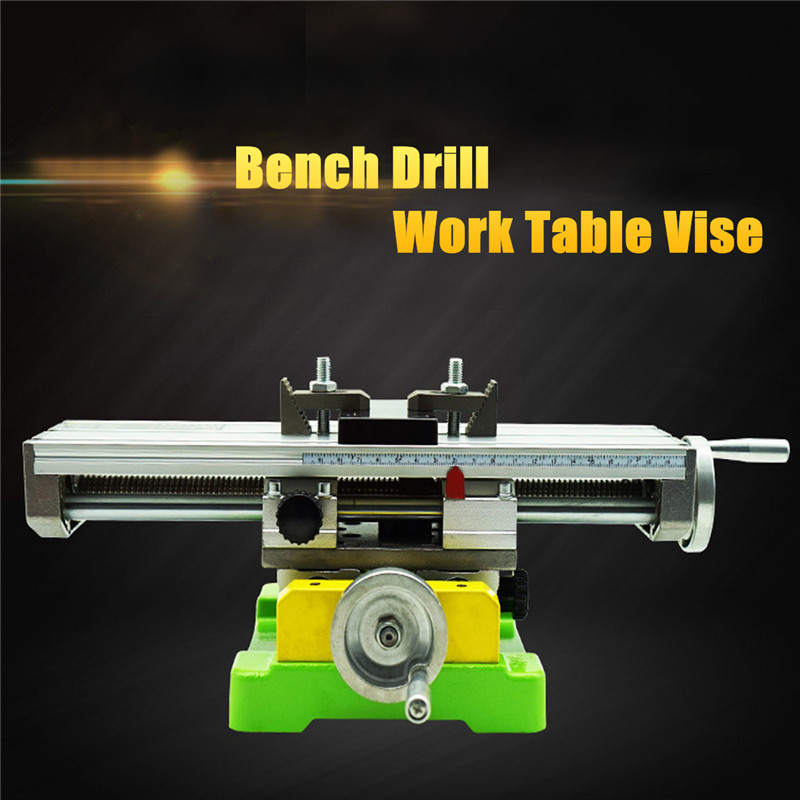 Фотография Premium Compound Cross Slide Working Table Adjustment X-Y Milling Working Cross Table 6350 Bench Drill Work Table Vise