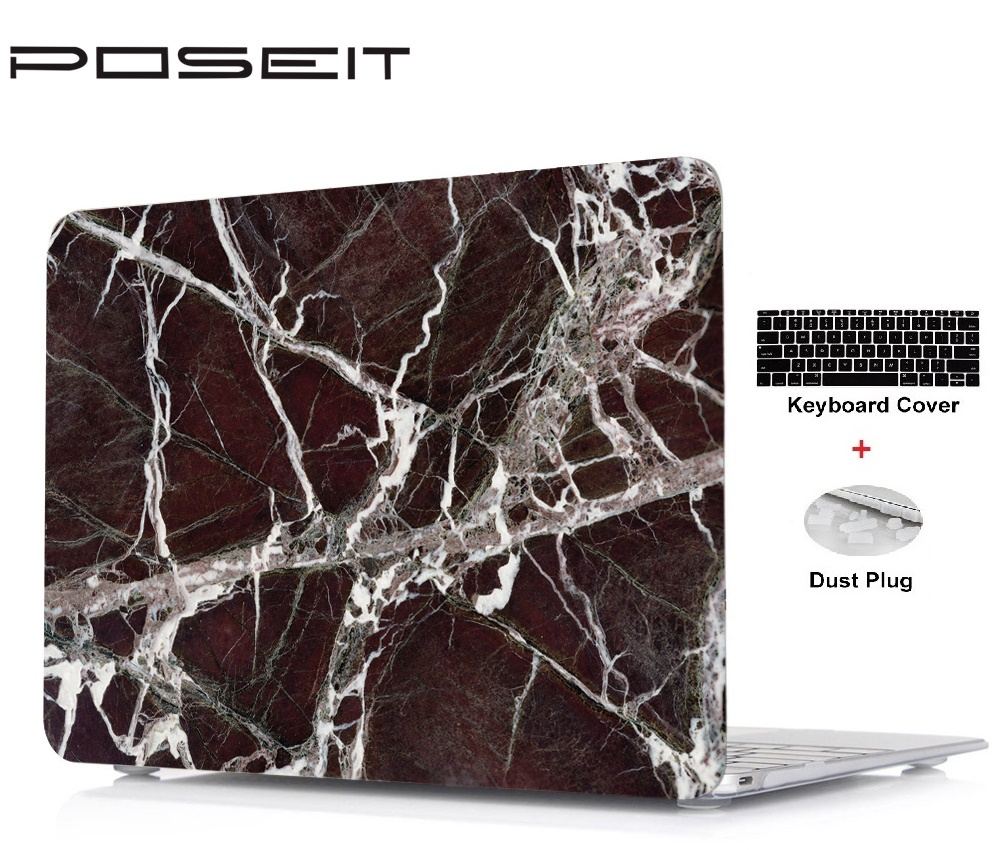 New Marble prints Hard Shell Case+Keyboard Cover+Dust Plugs For Macbook Pro13 15 Retina 12 13 15 Air11 13 Touch Bar 13 15 inch