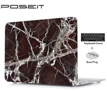 New Marble prints Hard Shell Case+Keyboard Cover+Dust Plugs For Macbook Pro13 15 Retina 12 13 Air11 Touch Bar inch