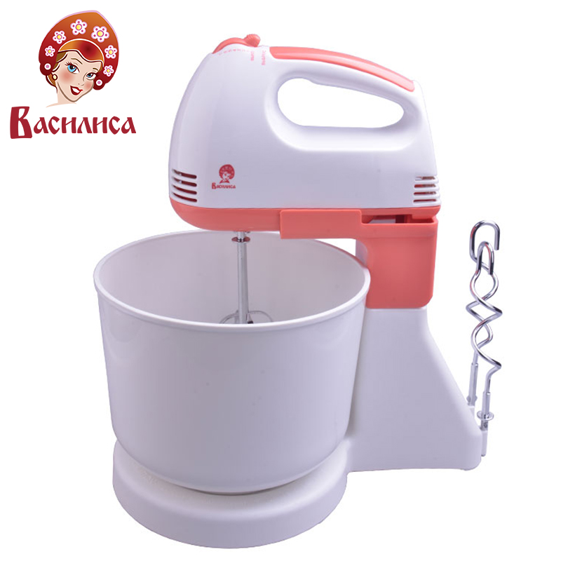 VASILISA VA-503N Food Mixer Bowl Electric Professional Dough Mixer Stand Food Mixer Flour Eggs Bread Milkshake Blenders 220v 1000w electric dough mixer professional eggs blender 5l automatic food mixer milkshake cake mixer kneading machine