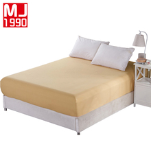 Solid Color Fitted Sheet Polyester Sheets With Elastic Band Factory Hot Sale Bed Linens Mattress Cover Size 180x200cm 200*220 cm