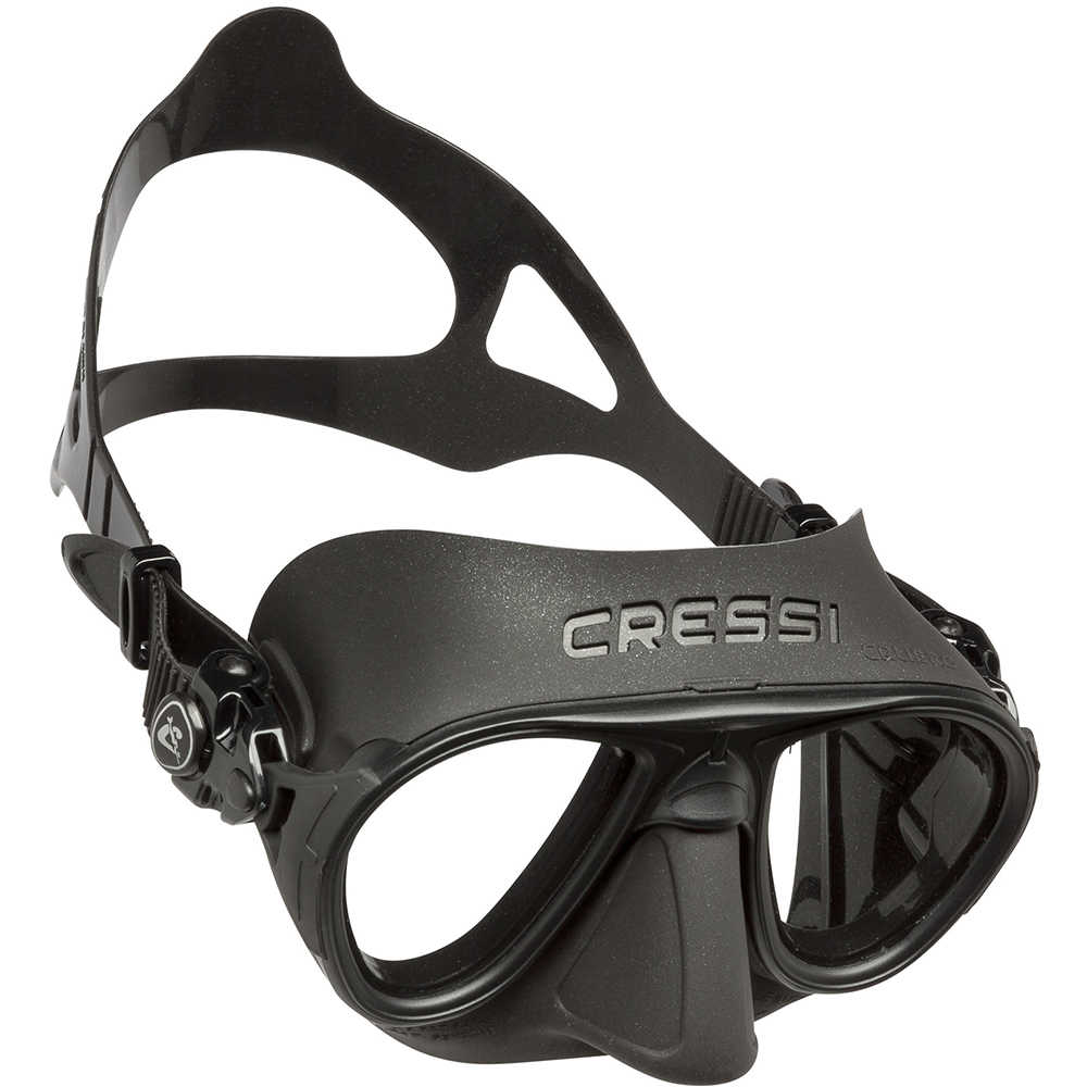 Cressi CALIBRO Ultra Low Volume Free Diving Mask Tempered Glass 2 Window Integrated Dual Frame Matte Coating Mask For Adults