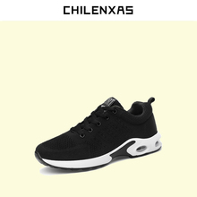 CHILENXAS 2017 autumn winter new shoes Leather Casual men fashion comfortable lace-up solid breathable height increasing lovers