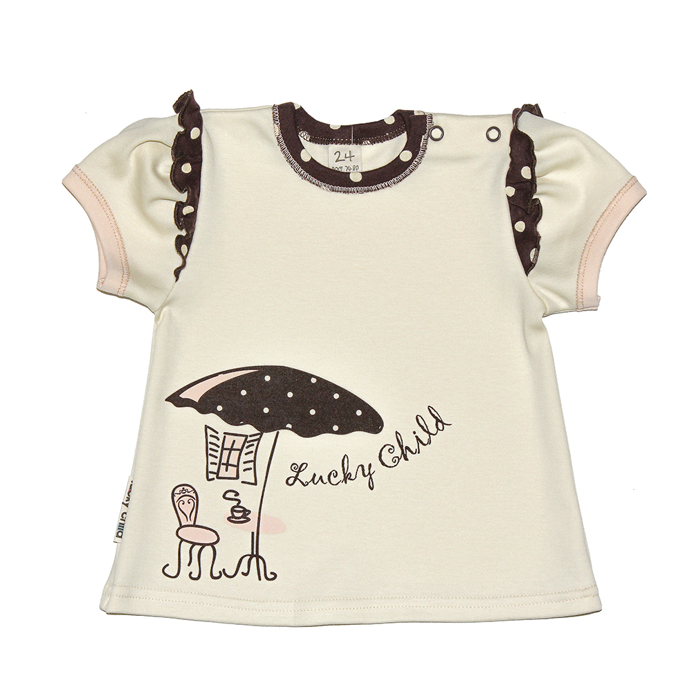 T Shirts Lucky Child for girls 23-36 Cafe Top Baby T Shirt Kids Tops Children clothes newborn baby boy girl infant warm cotton outfit jumpsuit romper bodysuit clothes