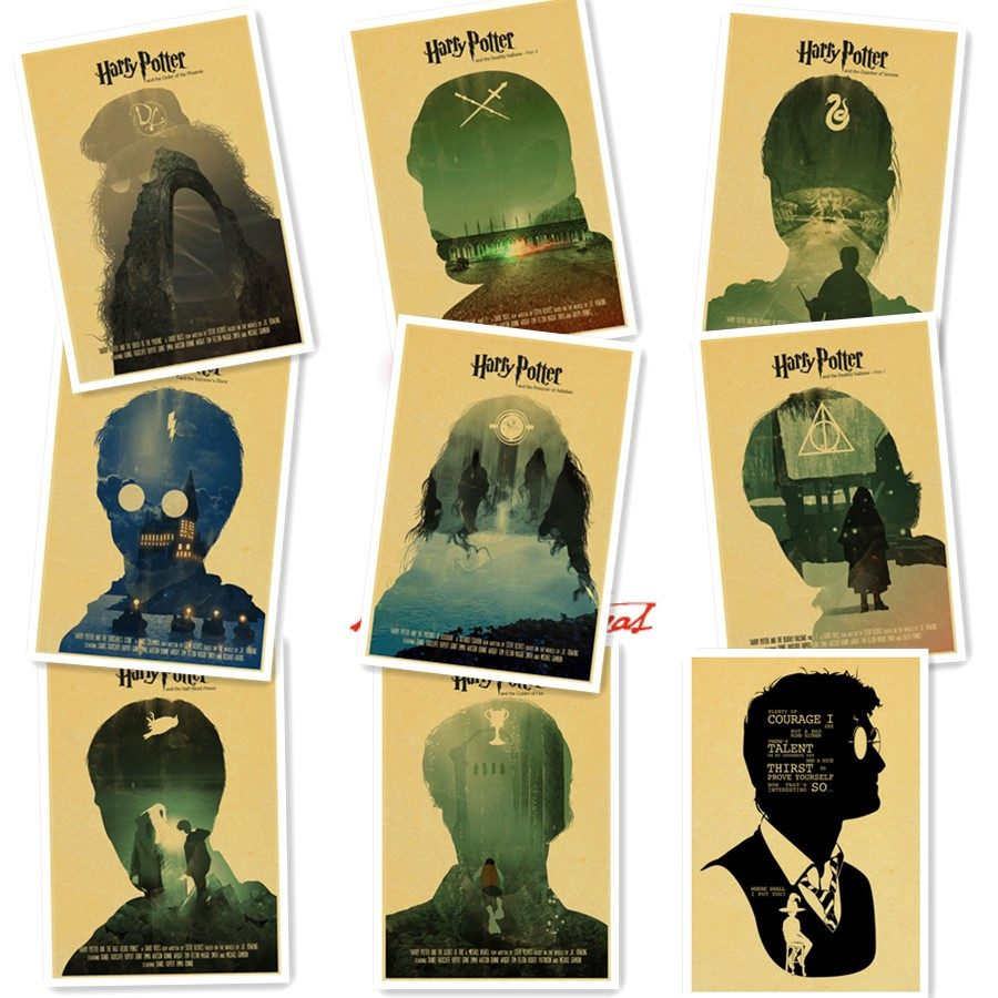 Online Shop Retro Poster Harry Potter Magic World Poster Kraft Paper ...