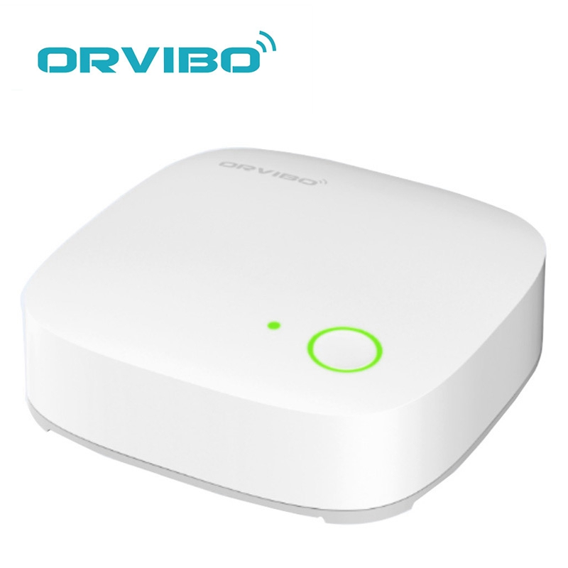 ORVIBO VS10ZW Alarm Mini WiFi Smart Kit ZigBee Hub Home System Remote Control for Home Automation Connected Up to 50 Sensors original orvibo smart security kit alarm detector zigbee intelligent hub motion door sensor wifi ip camera app remote control