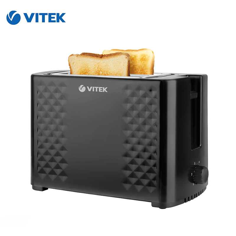 Toaster Vitek VT-1586 bread Household Baking 2 Slices Slots for Breakfast toast machine jiqi household electric baking pan sided heating cake machine scones machine grilled machine
