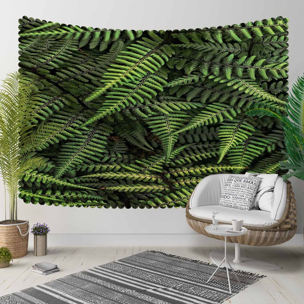 Else Green Tropical Jungle Floral Trees Leaves 3D Print Decorative Hippi Bohemian Wall Hanging Landscape Tapestry Wall Art