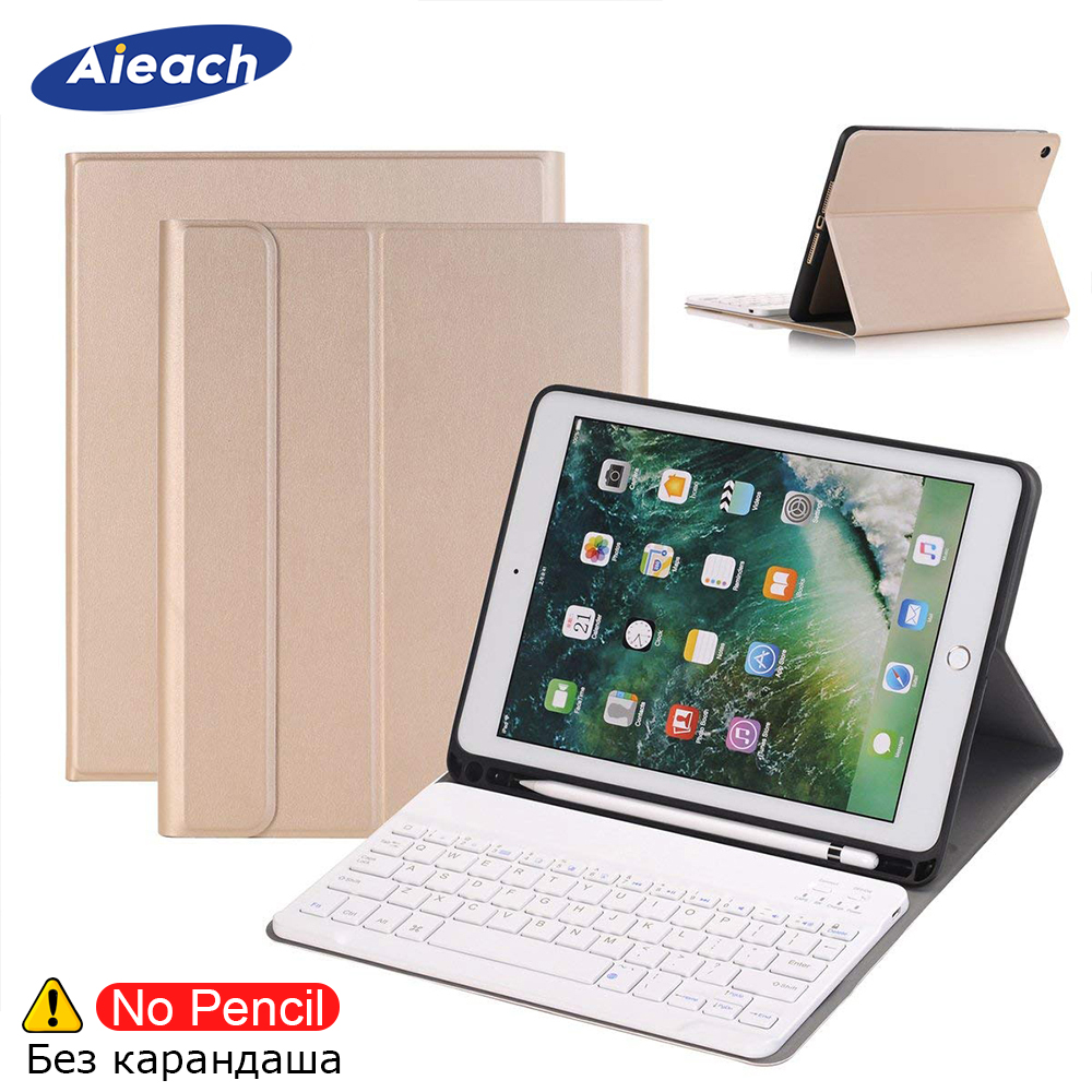 Bluetooth Keyboard Case For iPad Pro 9.7 With Pencil Holder PU Leather 360 Full Protective Smart Magnetic Cover For iPad Pro 9.7Bluetooth Keyboard Case For iPad Pro 9.7 With Pencil Holder PU Leather 360 Full Protective Smart Magnetic Cover For iPad Pro 9.7