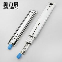 Glissières de tiroirs robustes à trois niveaux | Glissières de tiroir avec roulement à billes de verrouillage Extension complète