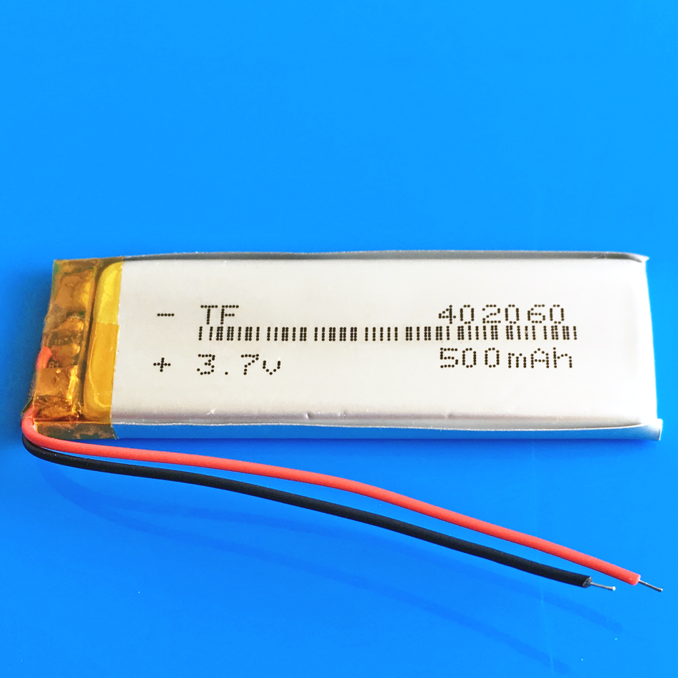 3.7V 500mAh lipo polymer lithium rechargeable battery for MP3 MP4 GPS DVD bluetooth recorder headset e book camera 402060|Replacement Batteries| |  - title=
