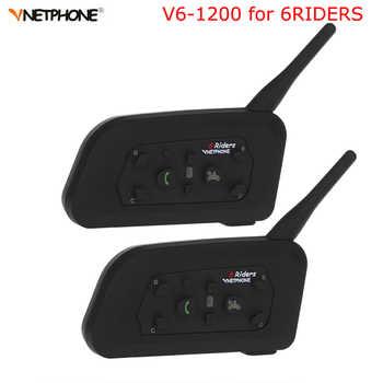 Vnetphone 2pcs V6 Motorcycle Interphone 1200M Bluetooth Helmet Intercom Headset intercomunicador moto Wireless for 6 Riders - DISCOUNT ITEM  20% OFF All Category
