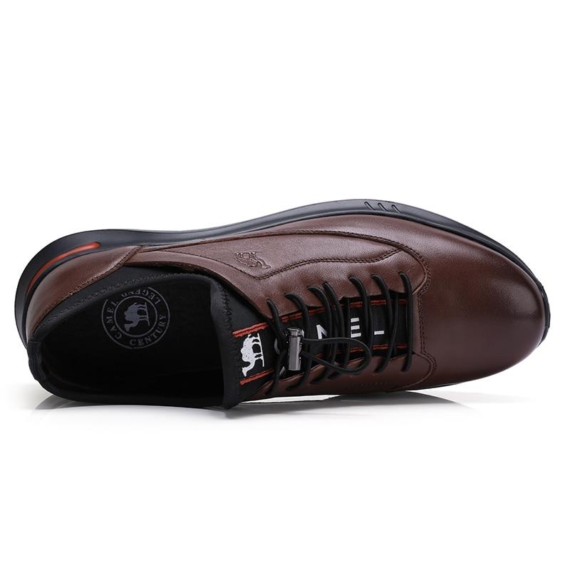 CAMEL New Men Casual Shoes Genuine Leather Fashion Men's Shoes Soft Flexible Lightweight Foam Bottom Man Footwear