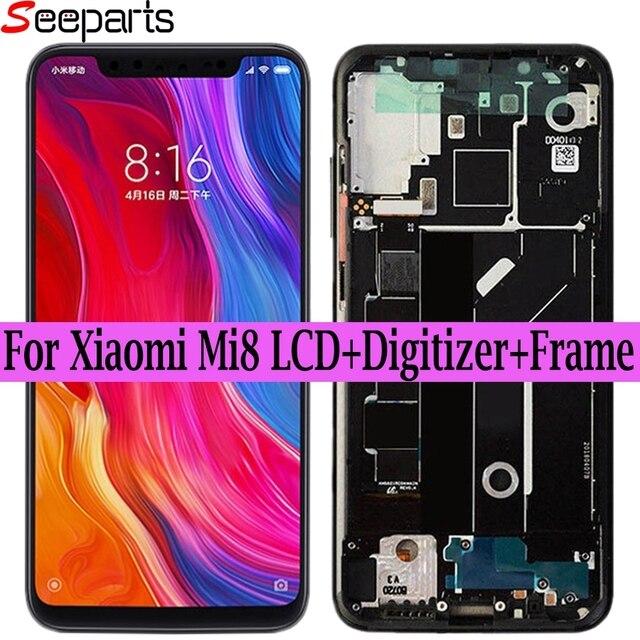 Super Amoled LCD pour Xiaomi Mi8 Explorer LCD affichage numériseur écran tactile remplacement pour Xiaomi 8 LCD pour xiaomi MI 8 SE LCD