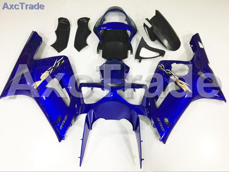 Motorcycle Fairings Kits For Kawasaki Ninja ZX6R 636 ZX-6R 2003 2004 03 04 ABS Plastic Injection Fairing Bodywork Kit Blue A165 green fuchs paint for kawasaki zx6r fairing kit 2000 2001 2002 00 01 02 ninja zx 6r 636 fairings body kits zx636 g5m2