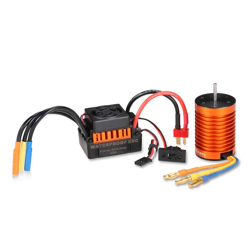 F540 4370kv Waterproof Brushless Motor With 45A ESC Combination Set to 1 / 10 RC Truck IUNEED TOY Store generic roland scan motor for sj 540 sj 740 fj 540 fj 740 sc 540 printer parts motor