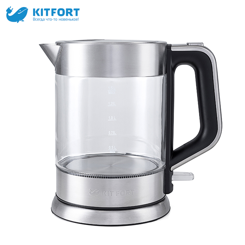 Kitfort KT-617 electric kettles pot teapot thermo Household pot Quick instant Heating Boiling Pot zipper glass electric kettle redmond rk g154 pot teapot thermo household pot quick instant heating boiling pot zipper glass large capacity