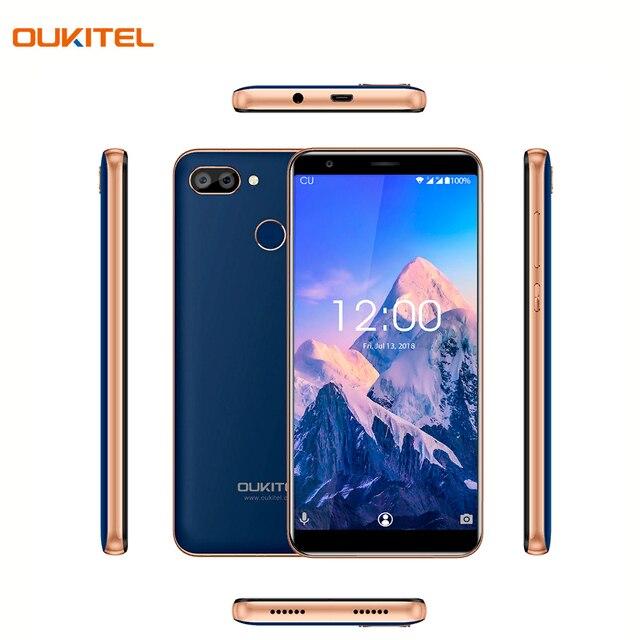 Смартфон OUKITEL C11ProBlue отличная двойная камера 8+2Мп, сканер отпечатка пальца, функция распознавания лица - Face ID Unlock