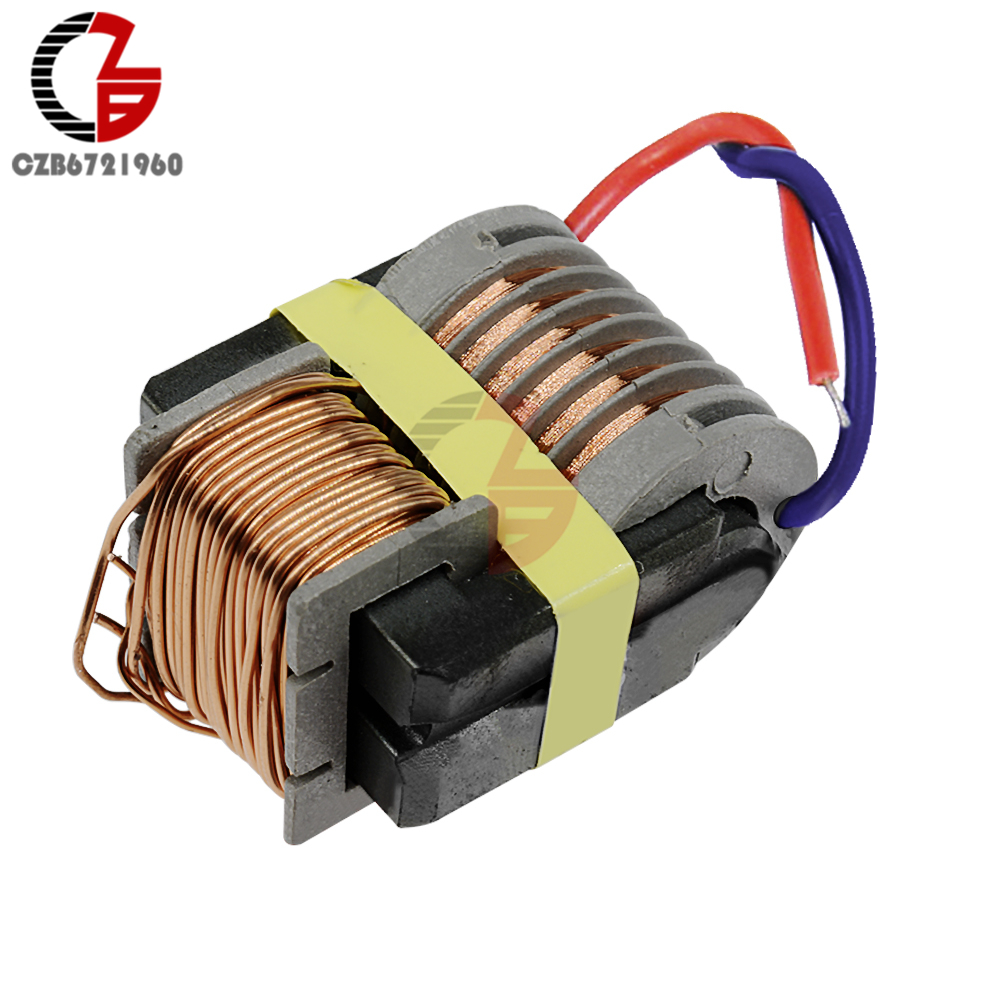 15KV High Frequency Voltage Inverter Voltage Coil Arc Generator Step up Boost Converter Power Transformer 2cm super arc 3 7v 6v high voltage pulse arc generator inverter step up boost transformer ignition coil module