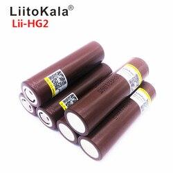 2019 LiitoKala Lii-HG2 18650 18650 3000 mah cigarro eletrônico Recarregável a energia da bateria de descarga de alta, 30A grande corrente